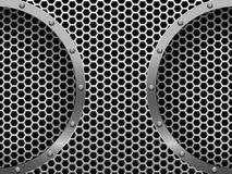 Illustration of dark hexagon metal grill Stock Images