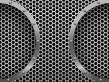 Illustration of dark hexagon metal grill Stock Images