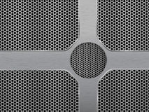 Illustration of dark hexagon metal grill Royalty Free Stock Photography