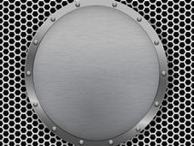 Illustration of dark hexagon metal grill texture Royalty Free Stock Photo