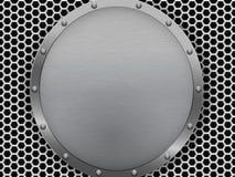 Illustration of dark hexagon metal grill texture Royalty Free Stock Photo