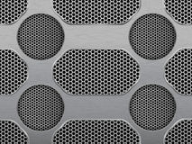 Illustration of dark hexagon metal grill texture Stock Photos