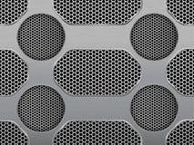 Illustration of dark hexagon metal grill texture Stock Photos