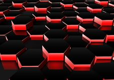 Dark red hexagonal background Royalty Free Stock Photo