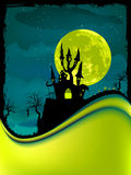Illustration of dark scary halloween night. EPS 8 Stock Image
