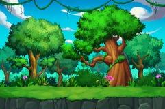 Illustration: Das Baum-Land Lizenzfreie Stockfotos