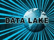 Illustration data See-Digital Datacenter Wolken-3d vektor abbildung