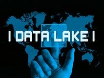 Illustration data See-Digital Datacenter Wolken-3d stock abbildung