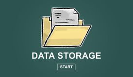 Concept of data storage. Illustration of a data storage concept Royalty Free Stock Photo