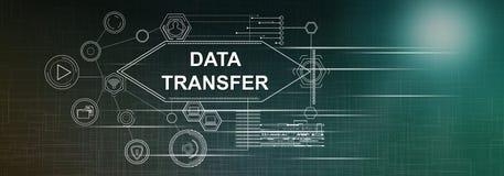 Concept of data transfer vector illustration