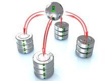 Illustration of the database  Royalty Free Stock Photo