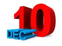 December 10. An illustration of the date December 10th vector illustration
