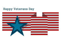 Illustration the day of veteran US on a white background Stock Photo
