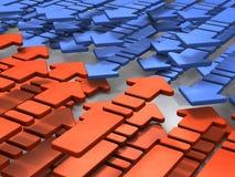 Illustration 3DCG abstraite montrant deux groupes contradictoires illustration de vecteur