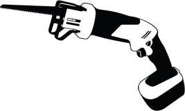 Illustration de échange sans fil de vecteur de scie illustration de vecteur