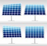 Illustration de 4 panneaux solaires Illustration Libre de Droits