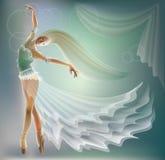 Illustration de ballerine de danse Photos stock