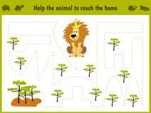 Illustration de bande dessinée d'éducation Jeu d'assortiment pour que les élèves du cours préparatoire tiennent un animal sauvage illustration libre de droits