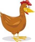 Illustration de bande dessinée d'animal de ferme de poule Photo stock