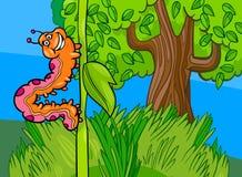 Illustration de bande dessinée d'insecte de Caterpillar illustration stock