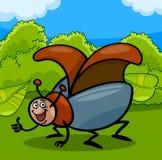 Illustration de bande dessinée d'insecte de scarabée Image libre de droits