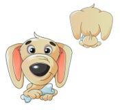 Illustration de bande dessinée d'un chien Images libres de droits