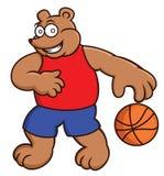 Illustration de bande dessinée d'un ours jouant le basket-ball Image stock