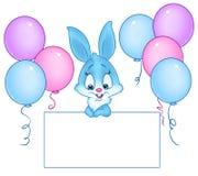 Illustration de bande dessinée de blanc de vacances de lapin Photo libre de droits