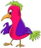Illustration de bande dessinée de caractère d'oiseau illustration stock