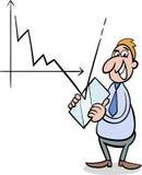 Illustration de bande dessinée de crise économique illustration stock