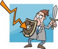 Illustration de bande dessinée de crise économique illustration de vecteur