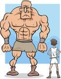 Illustration de bande dessinée de David et de Goliath illustration de vecteur