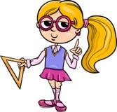 Illustration de bande dessinée de fille d'école primaire illustration de vecteur