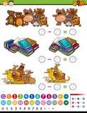 Illustration de bande dessinée de jeu de soustraction Photographie stock