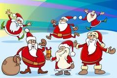 Illustration de bande dessinée de Noël Images stock