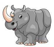 Illustration de bande dessinée de rhinocéros illustration stock