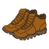 Illustration de bande dessinée de vecteur - extrémité de Brown augmentant des bottes illustration de vecteur