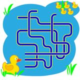 Illustration de bande dessinée des chemins ou du Maze Puzzle Activity Game Enfants apprenant la collection de jeux Image stock