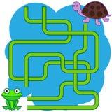Illustration de bande dessinée des chemins ou du Maze Puzzle Activity Game Enfants apprenant la collection de jeux Photo stock