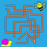 Illustration de bande dessinée des chemins ou du Maze Puzzle Activity Game Enfants apprenant la collection de jeux Images libres de droits