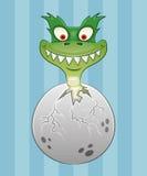 Illustration de bande dessinée. Dinosaure. Image stock