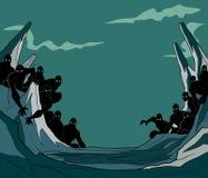 Illustration de bande dessinée de subordonnés illustration libre de droits