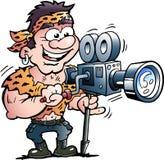 Illustration de bande dessinée de vecteur d'une star de cinéma fraîche de héros d'action photos libres de droits