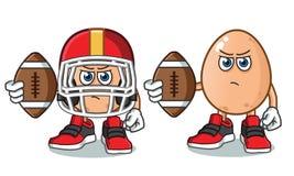 Illustration de bande dessinée de vecteur de l'Amérique du football d'oeufs illustration libre de droits