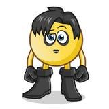 Illustration de bande dessinée de vecteur de mascotte d'emo d'émoticône illustration de vecteur