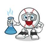 Illustration de bande dessinée de vecteur de mascotte de scientifiques de base-ball illustration de vecteur