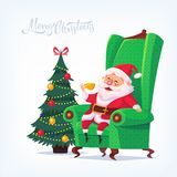 Illustration de bande dessinée de vecteur de Santa Claus Merry Christmas Photographie stock