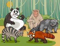 Illustration de bande dessinée d'animaux de mammifères Image libre de droits