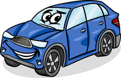 Illustration de bande dessinée de caractère de voiture de Suv Photographie stock