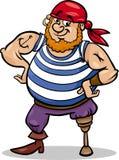 Illustration de bande dessinée de pirate de jambe de cheville Photographie stock libre de droits